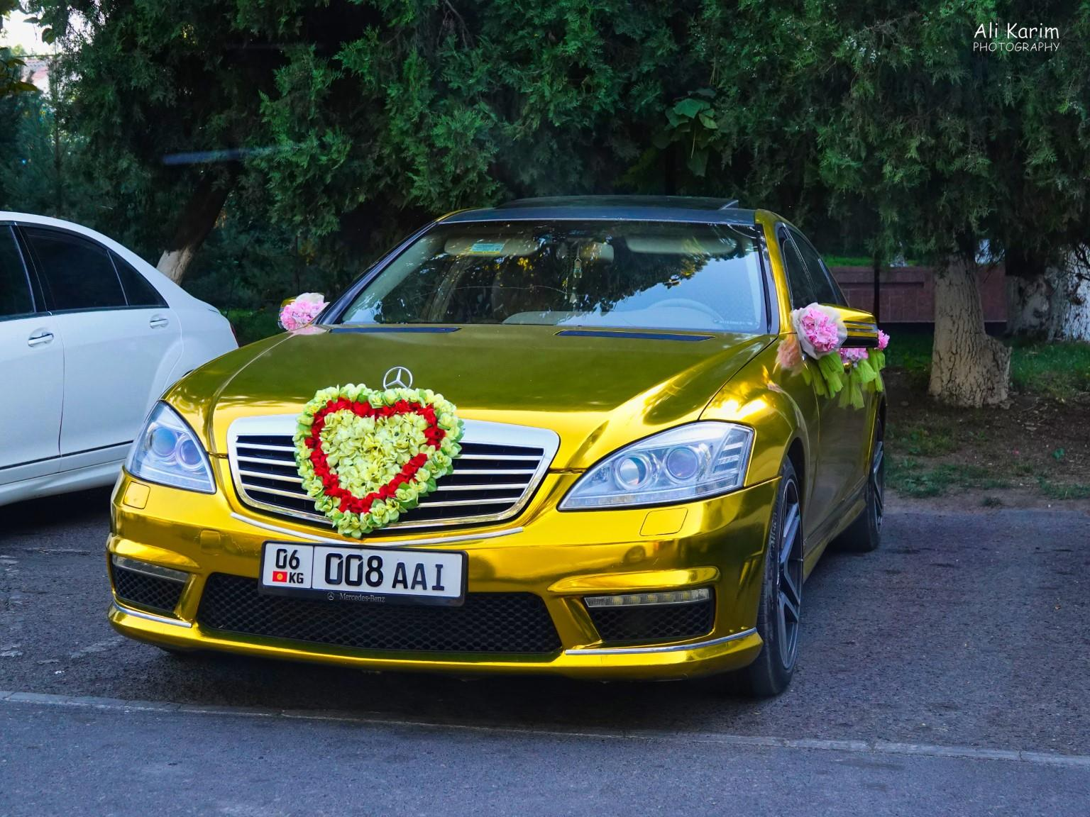 Silk Road 15: Osh, Kyrgyzstan Interesting Wedding cars, weddings seem to be big business here