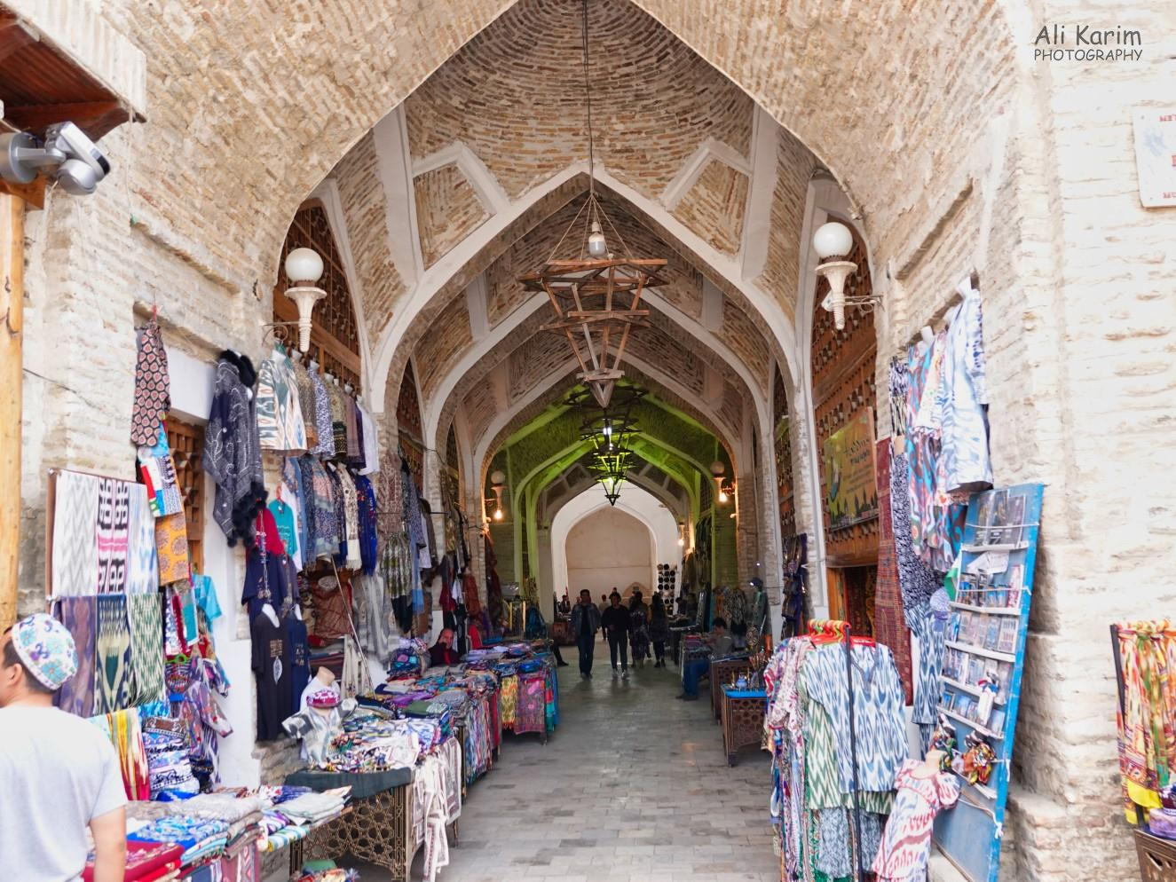 Bukhara, Oct 2019, View inside one of the trading domes; still filled with shops selling to tourists