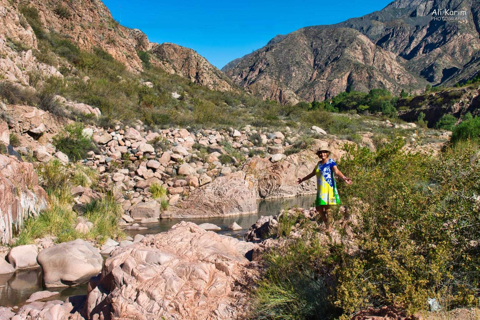 Mendoza, Argentina Hiking trails by the Parque along the Rio Mendoza