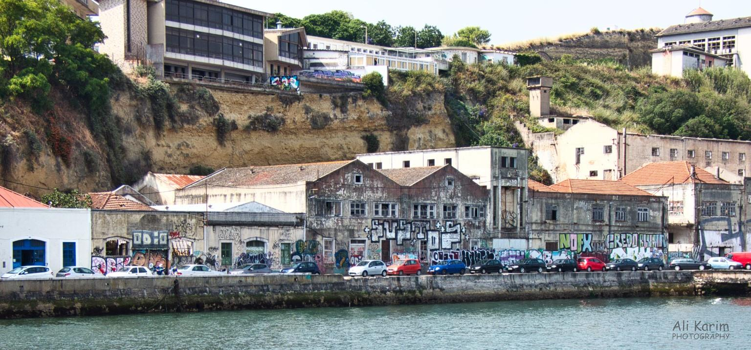 Waterfront warehouses in Cacilhas