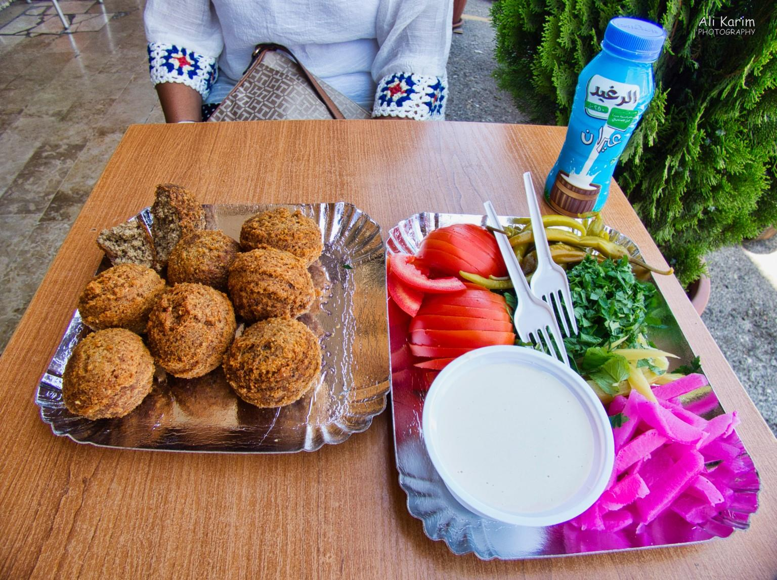 Druze and the Chouf Mountains Falafel lunch plate at Abou Samir