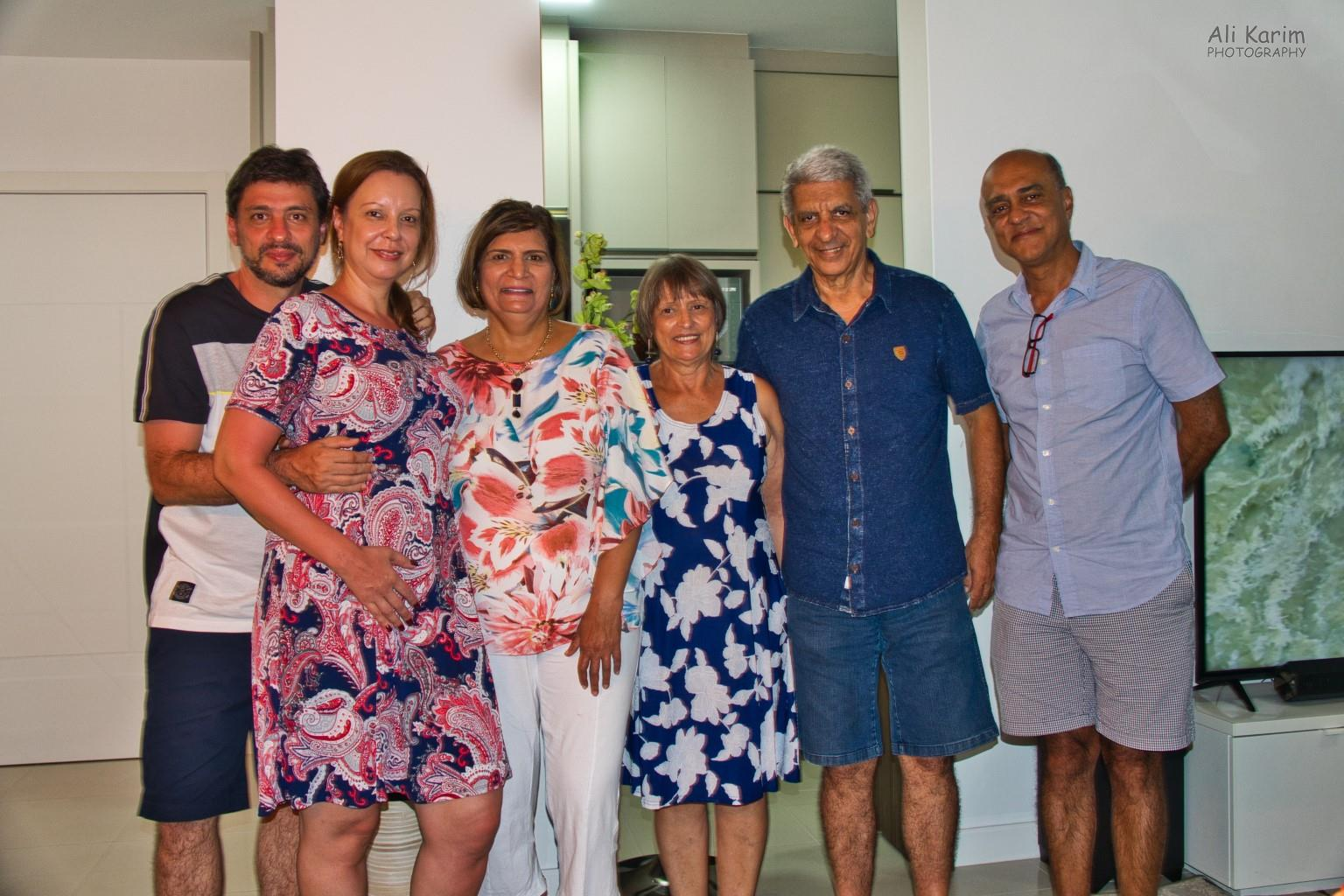 Florianópolis, Brazil With Rafael, Martha on the left and Rafael's parents at dinner