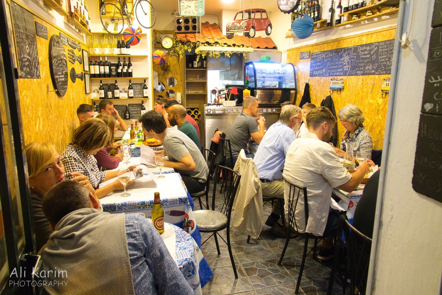 West of Lisbon Fresh seafood dinner at Adega Mercearia Bebe Se Mal restaurant, Porto