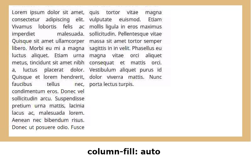 column-fill: auto