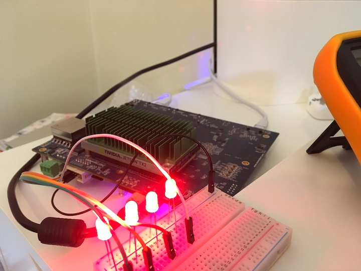 All LED powered on with all GPIO pins set to output