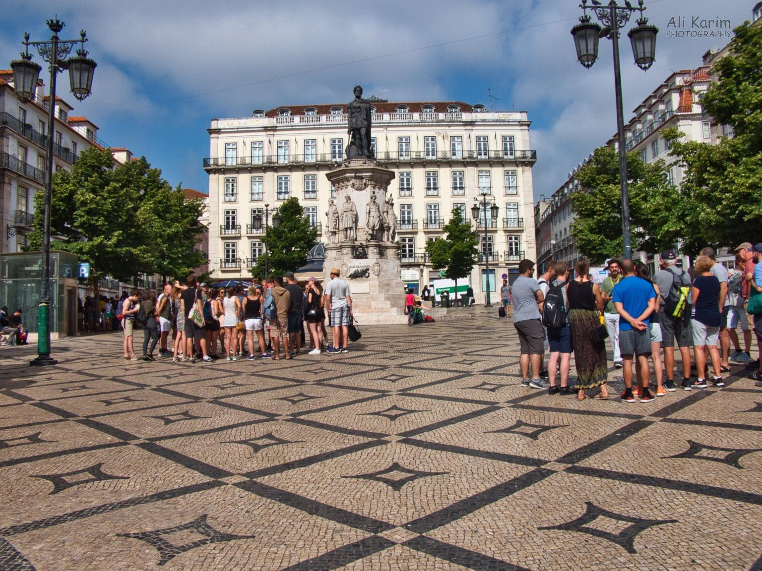 The Praça Luís de Camões; a popular tourist meeting place for guided walking tours