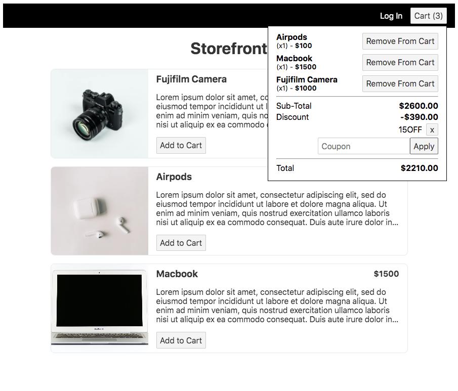 Svelte Store Demo - E-Commerce Shopping Cart