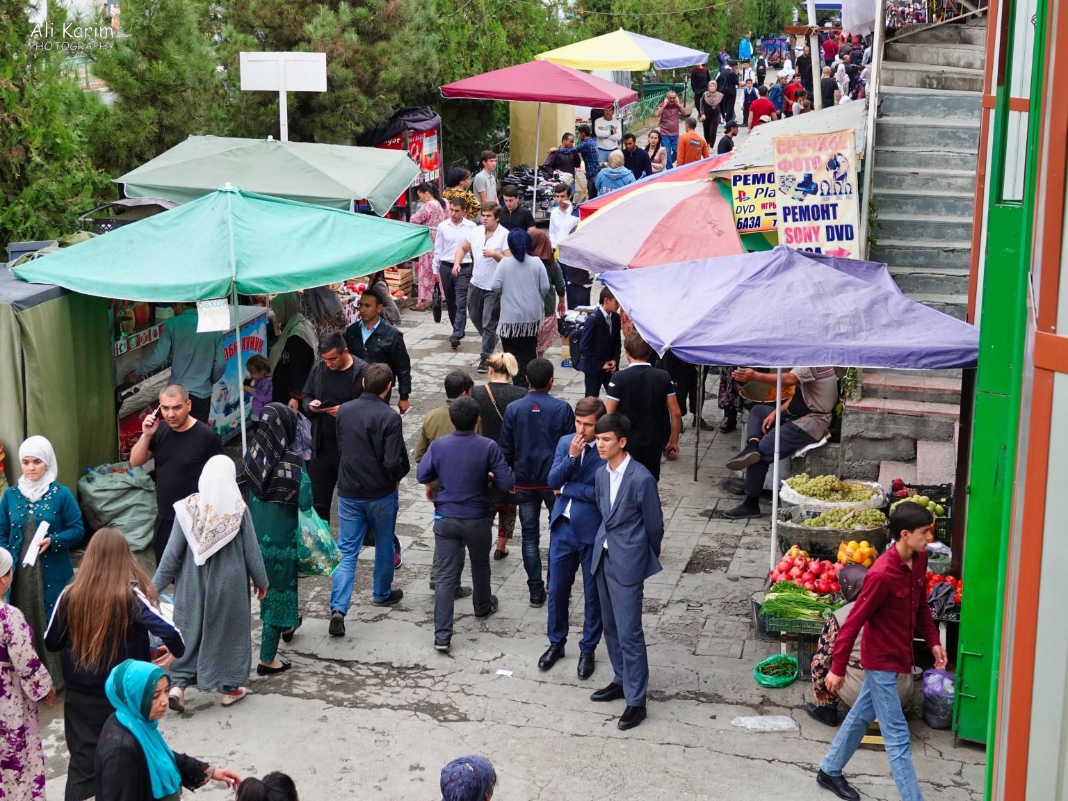 More Dushanbe, Tajikistan Market outside the Korvon market