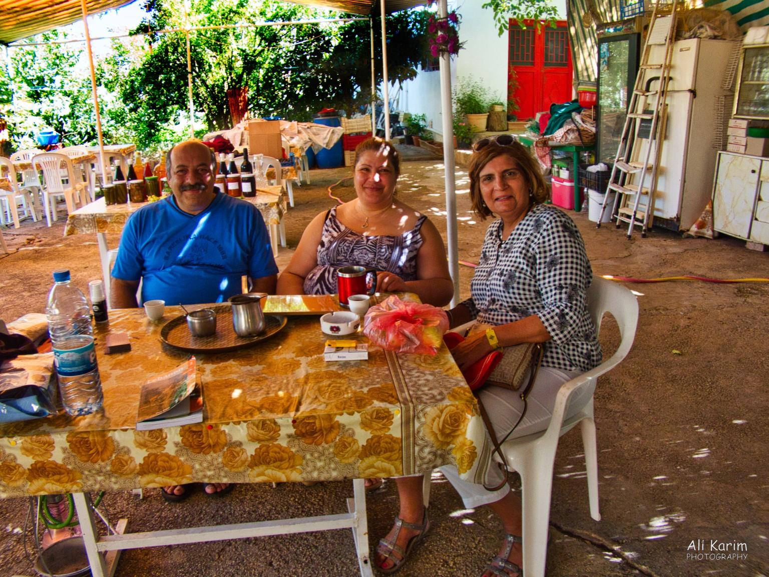 Bekaa Valley Winery, Chouf Mountains & the Druze Arabic coffee with Abu Elias and his wife, Therese, and our bag of freshly plucked fruit to take with us