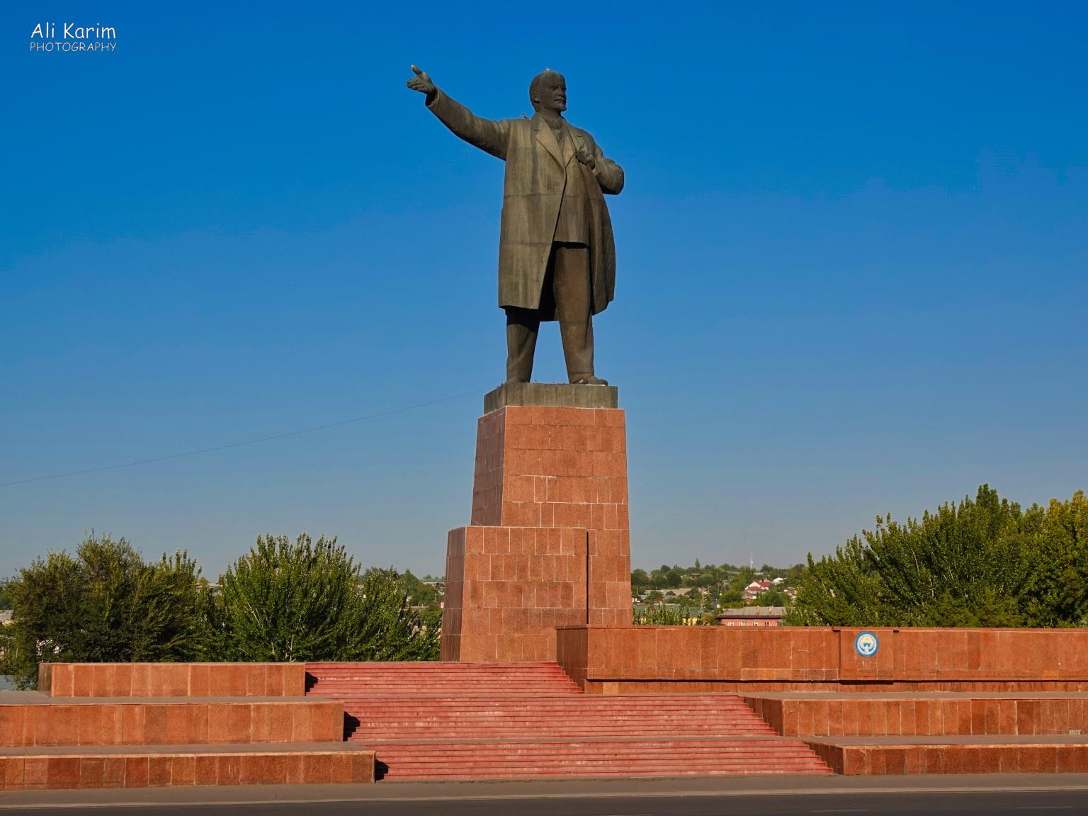 Silk Road 15: Osh, Kyrgyzstan Lenin showing the people the way, at the Osh City Hall