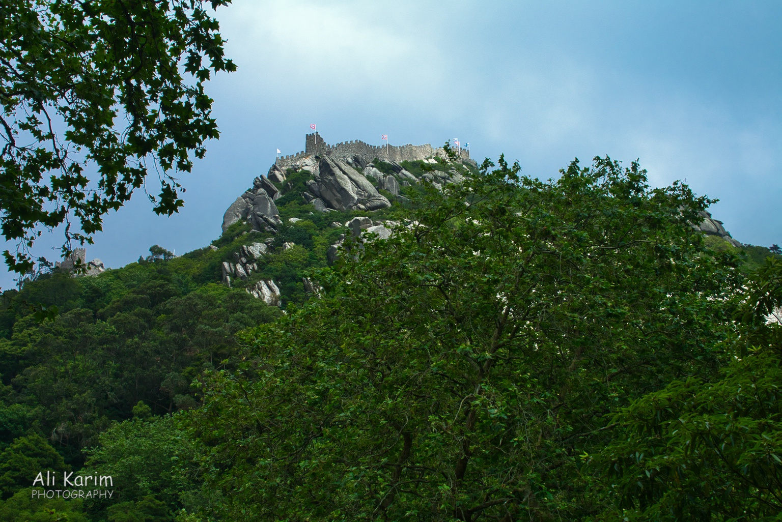 West of Lisbon Moors Castle, perched strategically on the highest hill around