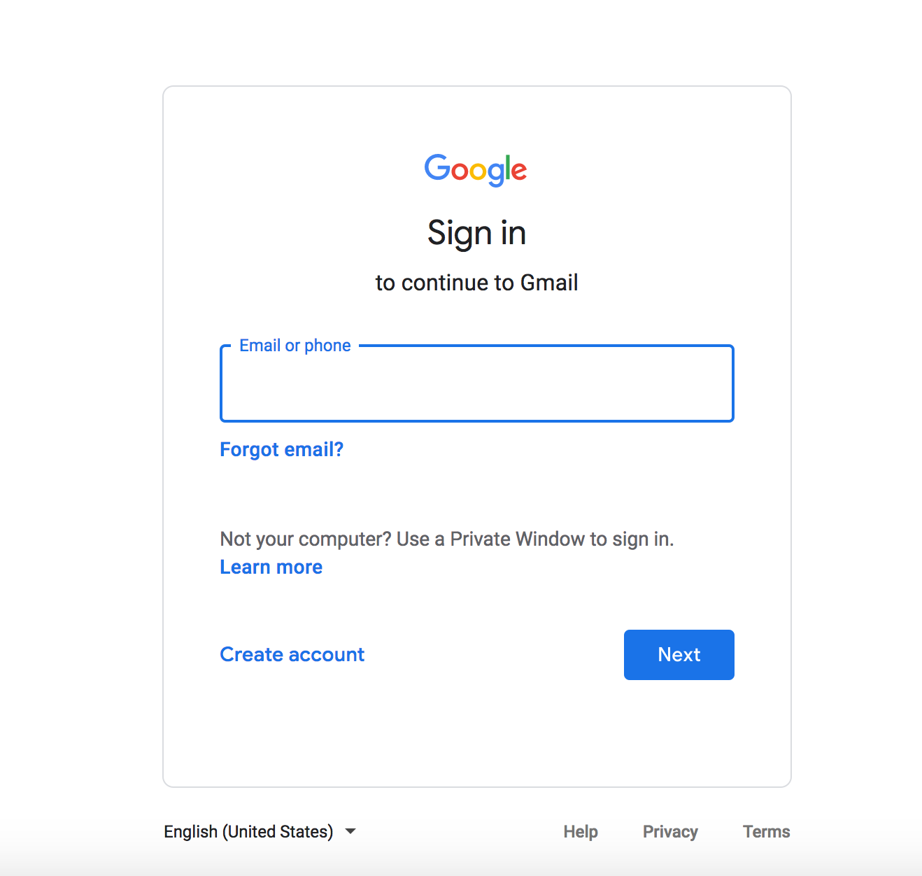 Focused E-Mail Address Input Field