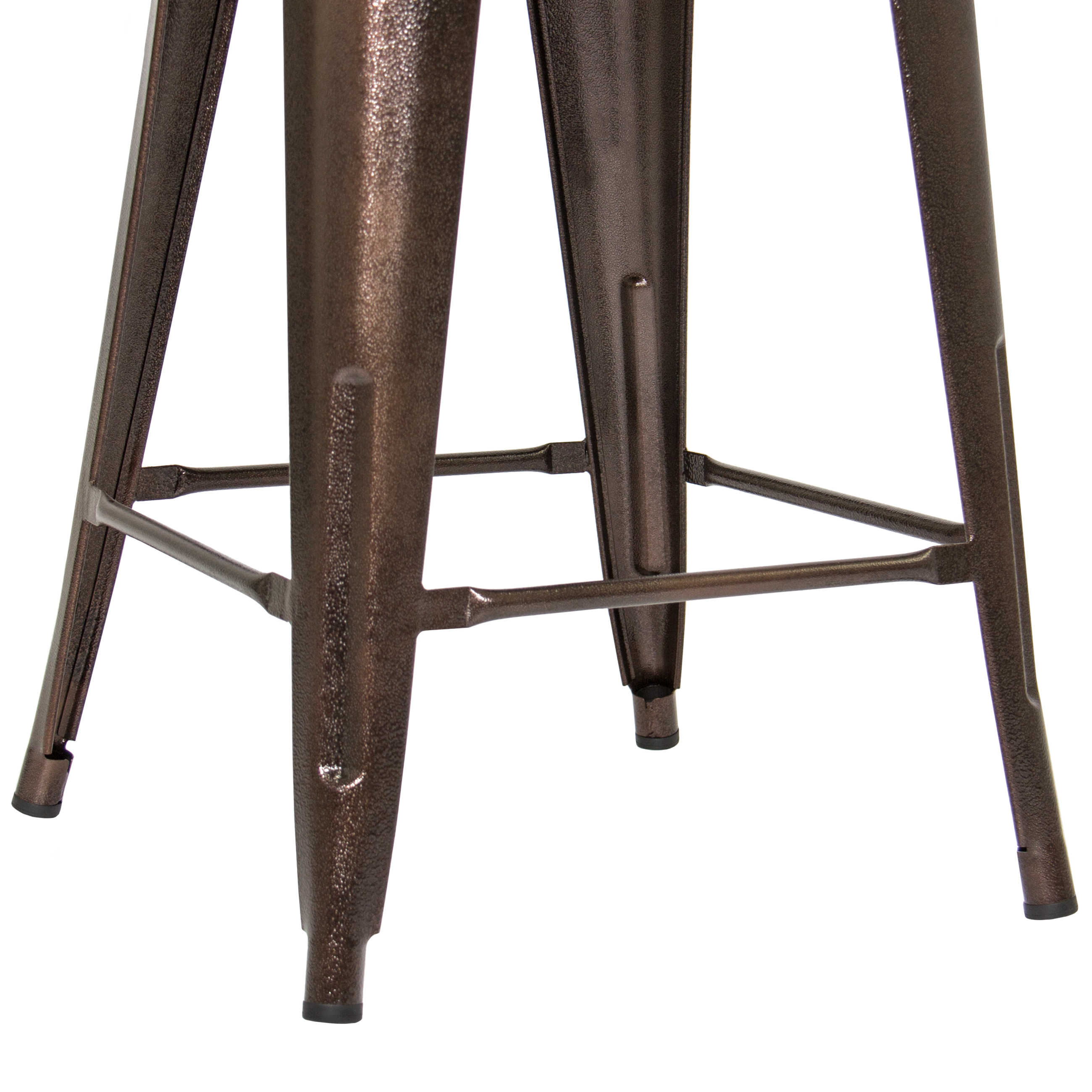 Industrial Style Set Of 2 Counter Height Metal Wood Bar