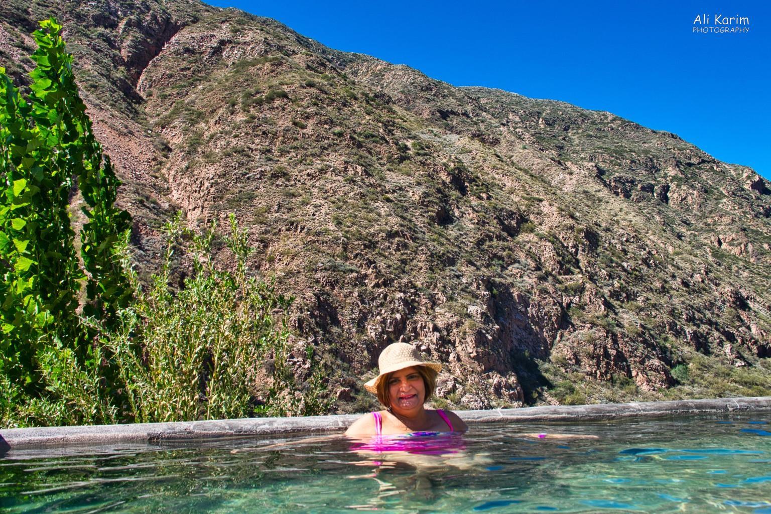 Mendoza, Argentina Enjoying the natural thermal spring water