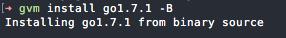 Installing Go v1.7.1