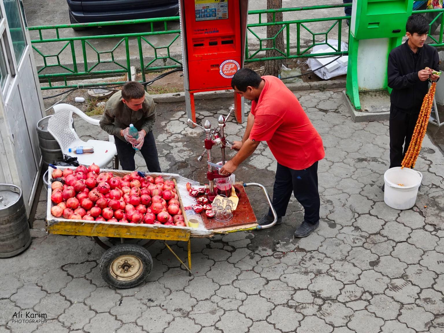 More Dushanbe, Tajikistan The Pomegranate juice was sweet and refreshing (& cheap :) )