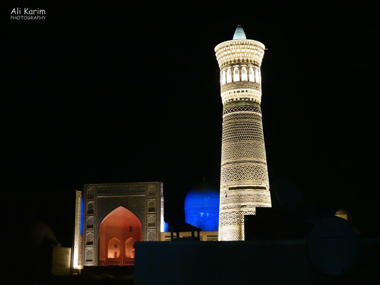 Bukhara, Oct 2019, Kalyan minaret and the Mir Arab Madrassah behind it