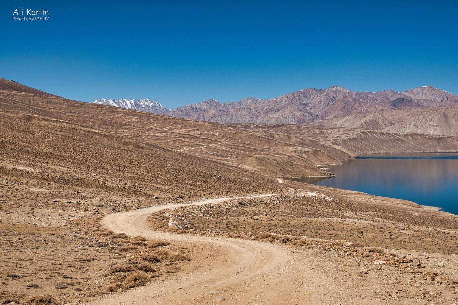 Langar, Tajikistan, Yashikul lake road and landscape. The road led to another very remote small village