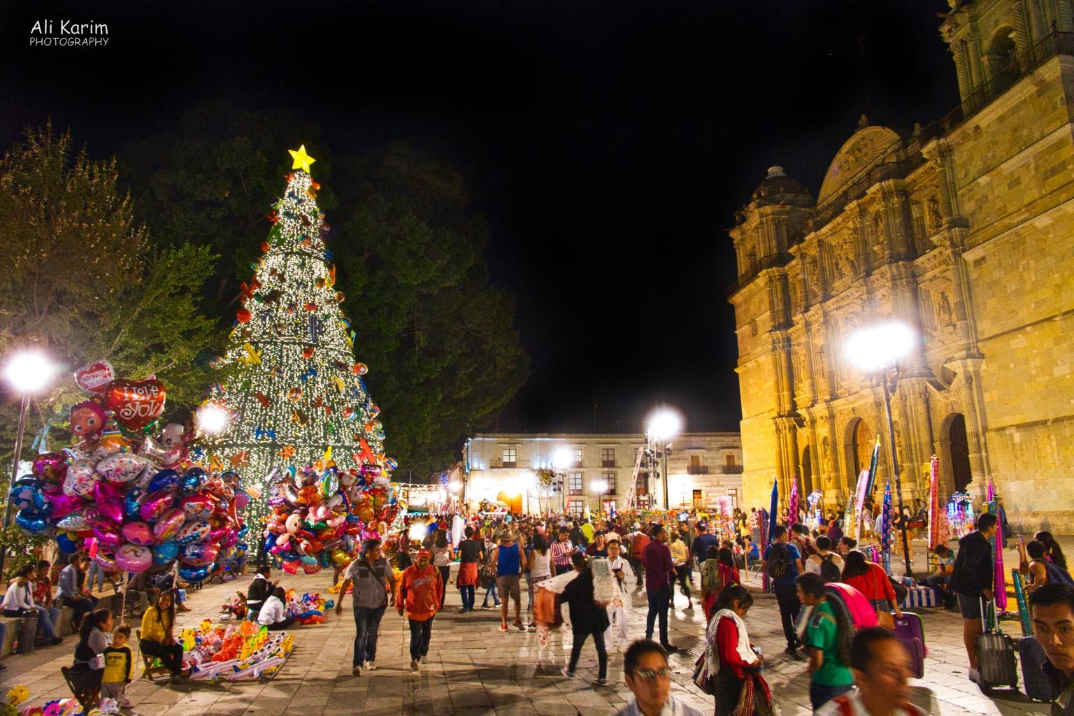 Oaxaca, Mexico At one corner of the Zocalo was the Oaxaca Cathedral, equally festive and busy