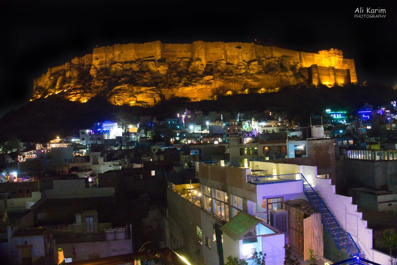 Jodhpur, Rajasthan Magnificent view of the Mehranghar Fort from the rootop café.