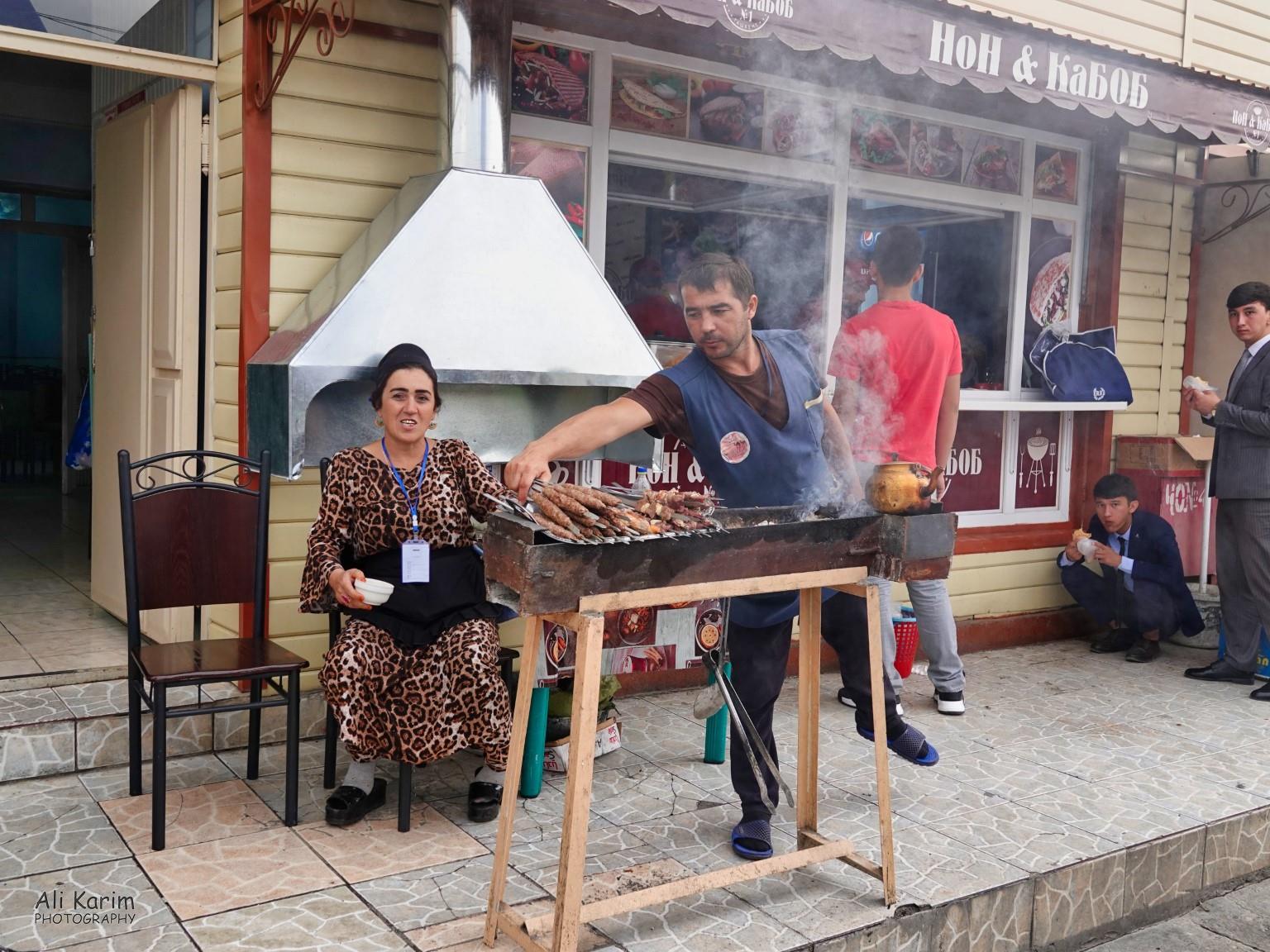 More Dushanbe, Tajikistan Non & Kebab restaurant (Naan & Kebab) in the market