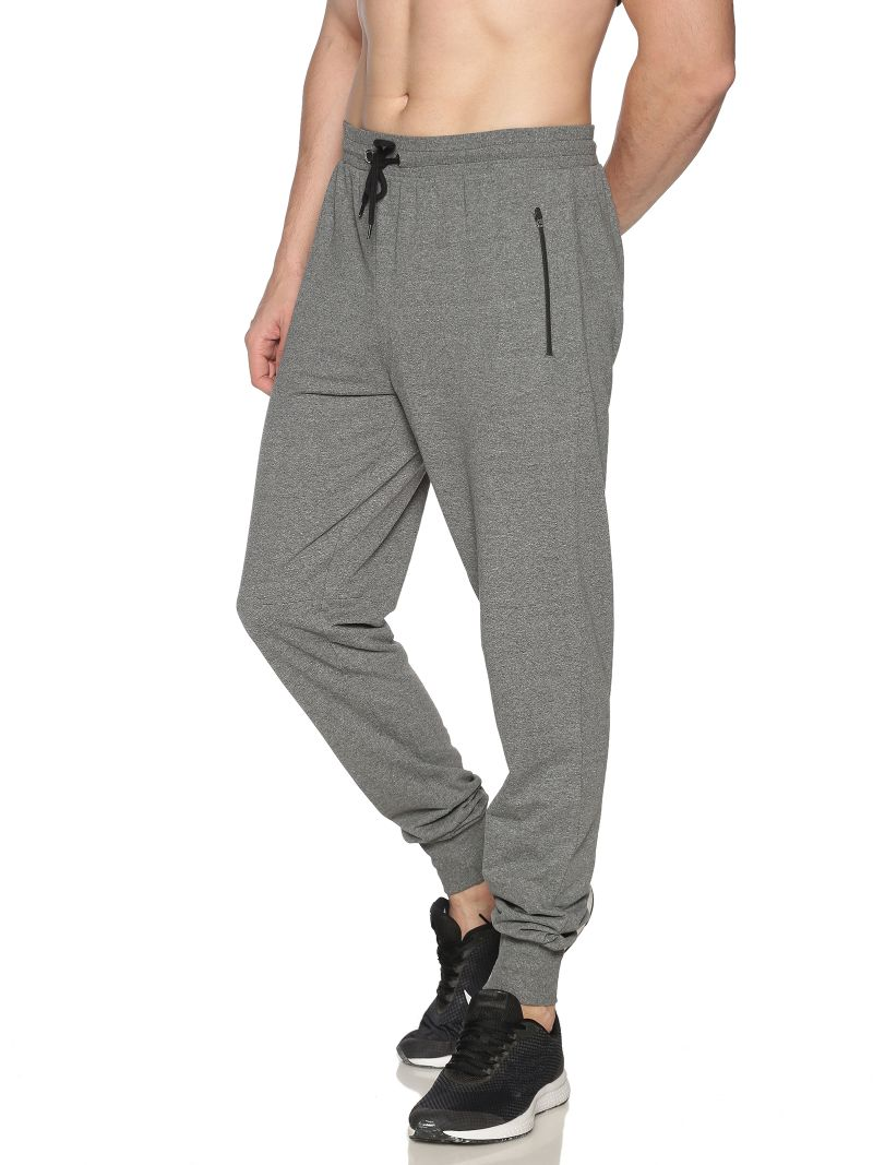 ATIVO Basic Joggers-Colour Charcoal (Recycled Fabric)