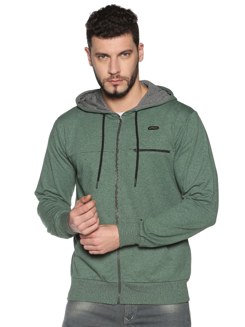 Basic Hoodie-Colour Trekking Green (Recycled Fabric)
