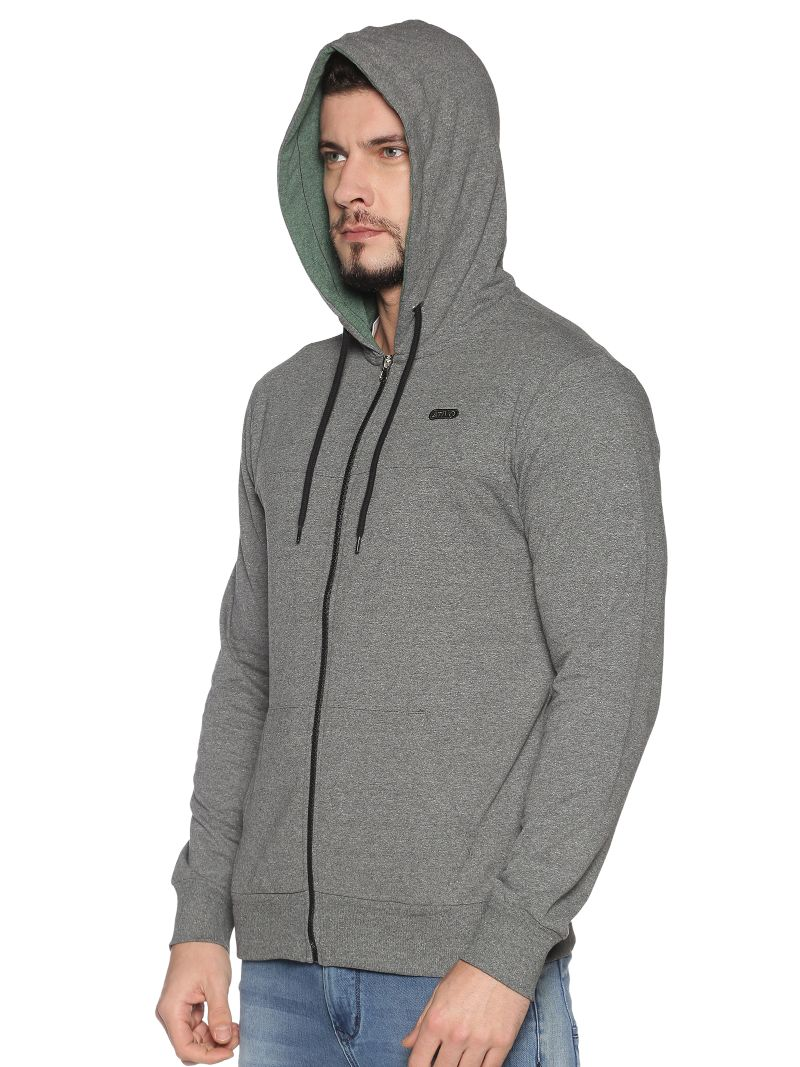 Basic Hoodie-Colour Charcoal (Recycled Fabric)