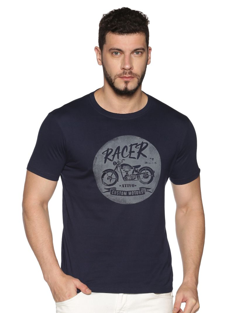 Navy Motorcycle Tee