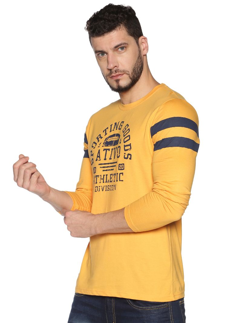 Yellow with graphic print Sporting Goods Long Sleeves Tee
