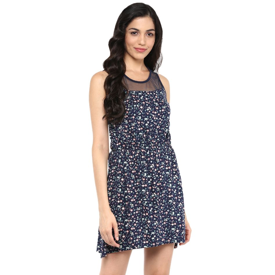 Querida Women's Fit and Flare Multicolor Dress
