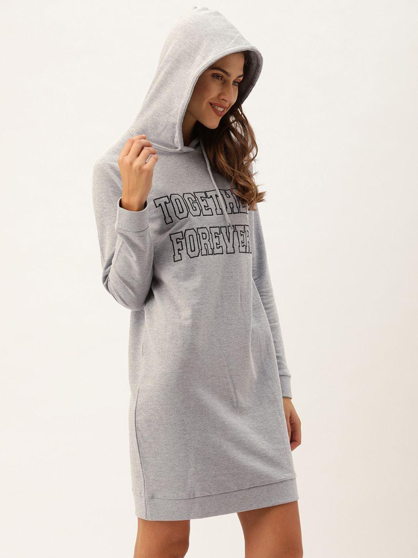 Slumber Jill Grey Together Forever Hoodie Dress