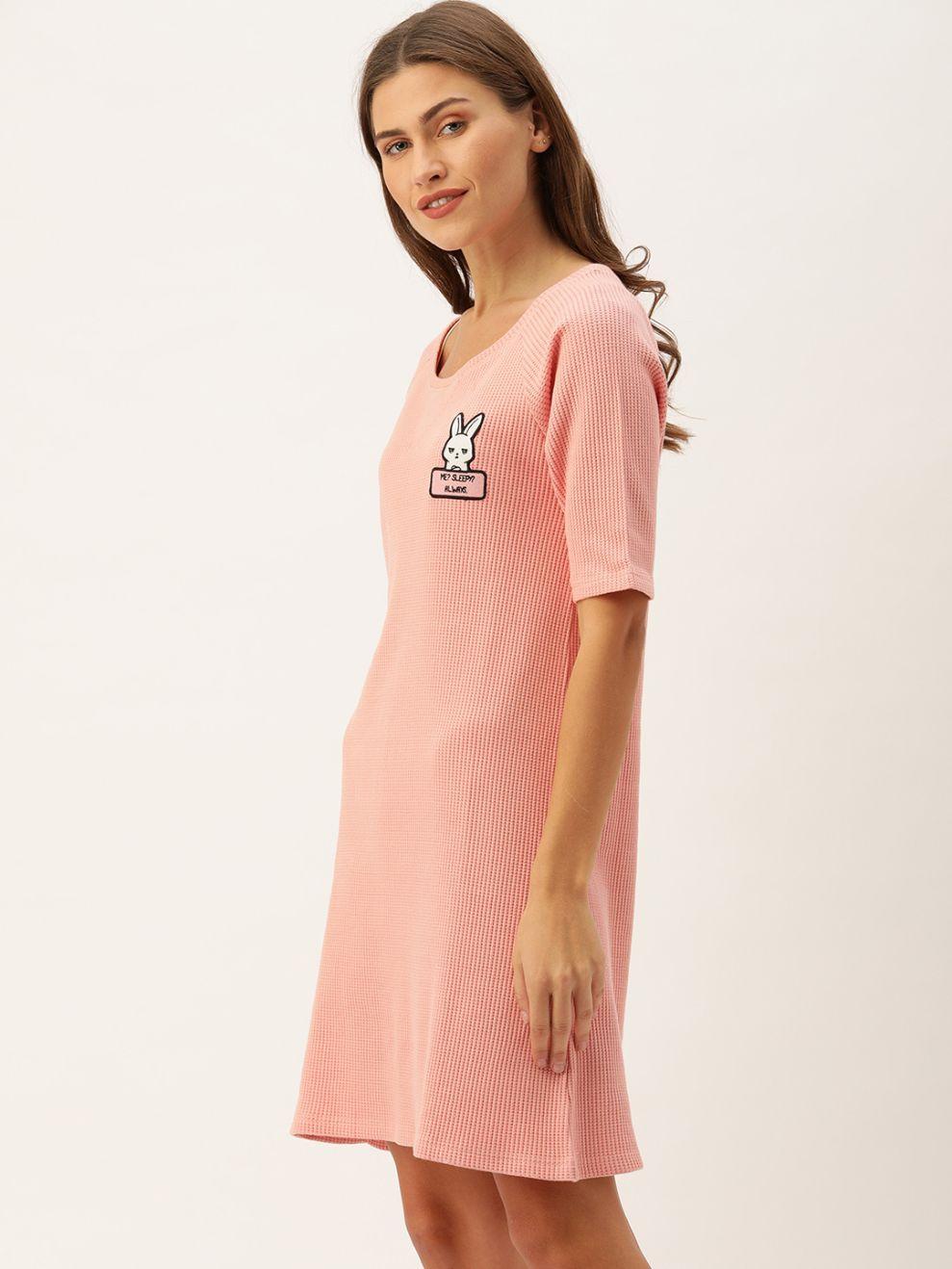 Slumber Jill Winter Waffle Rose Pink Lounge Dress