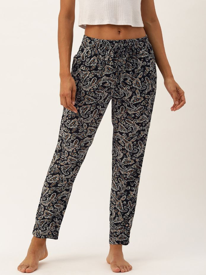 Cristi Black Paisley Lounge Pants