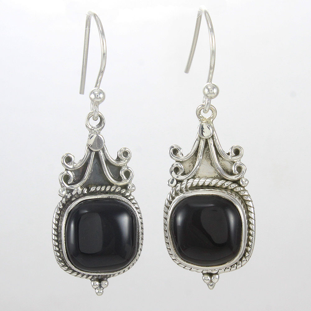 Black-Onyx-Earrings-Solid-925-Sterling-Silver-Beautiful-Jewelry-Mothers-Day-Gift thumbnail 6