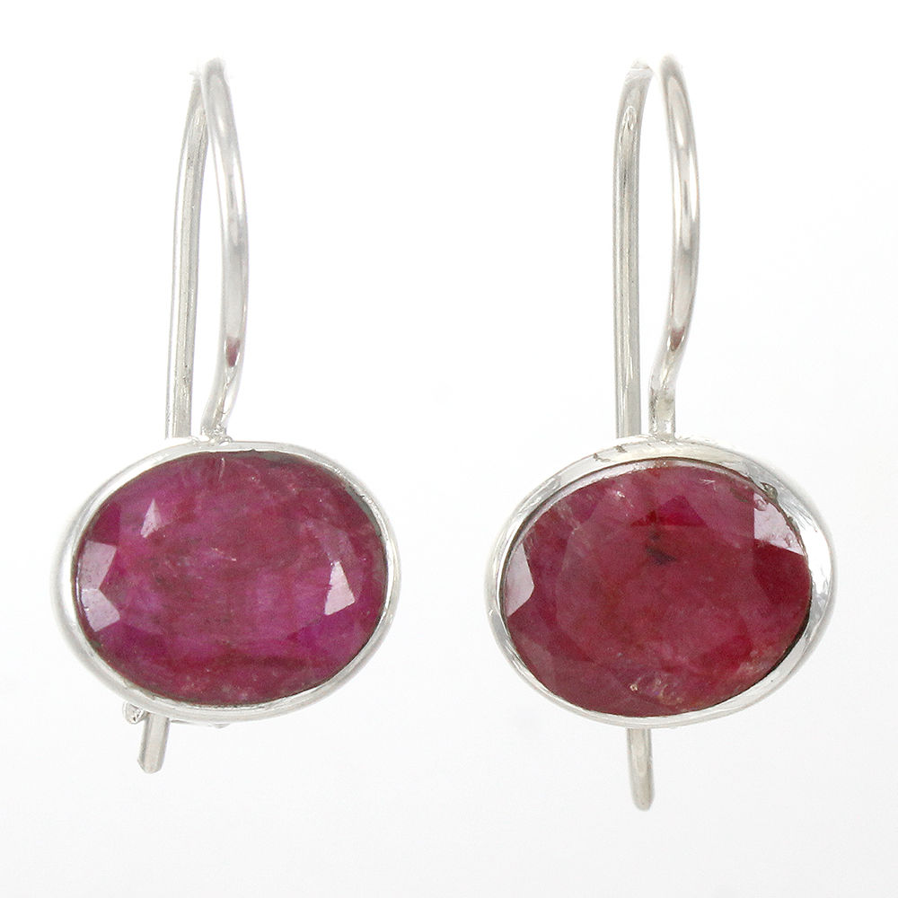 Pink-Ruby-Gemstone-Earrings-Solid-925-Sterling-Silver-Bridal-Gift-Jewelry thumbnail 9