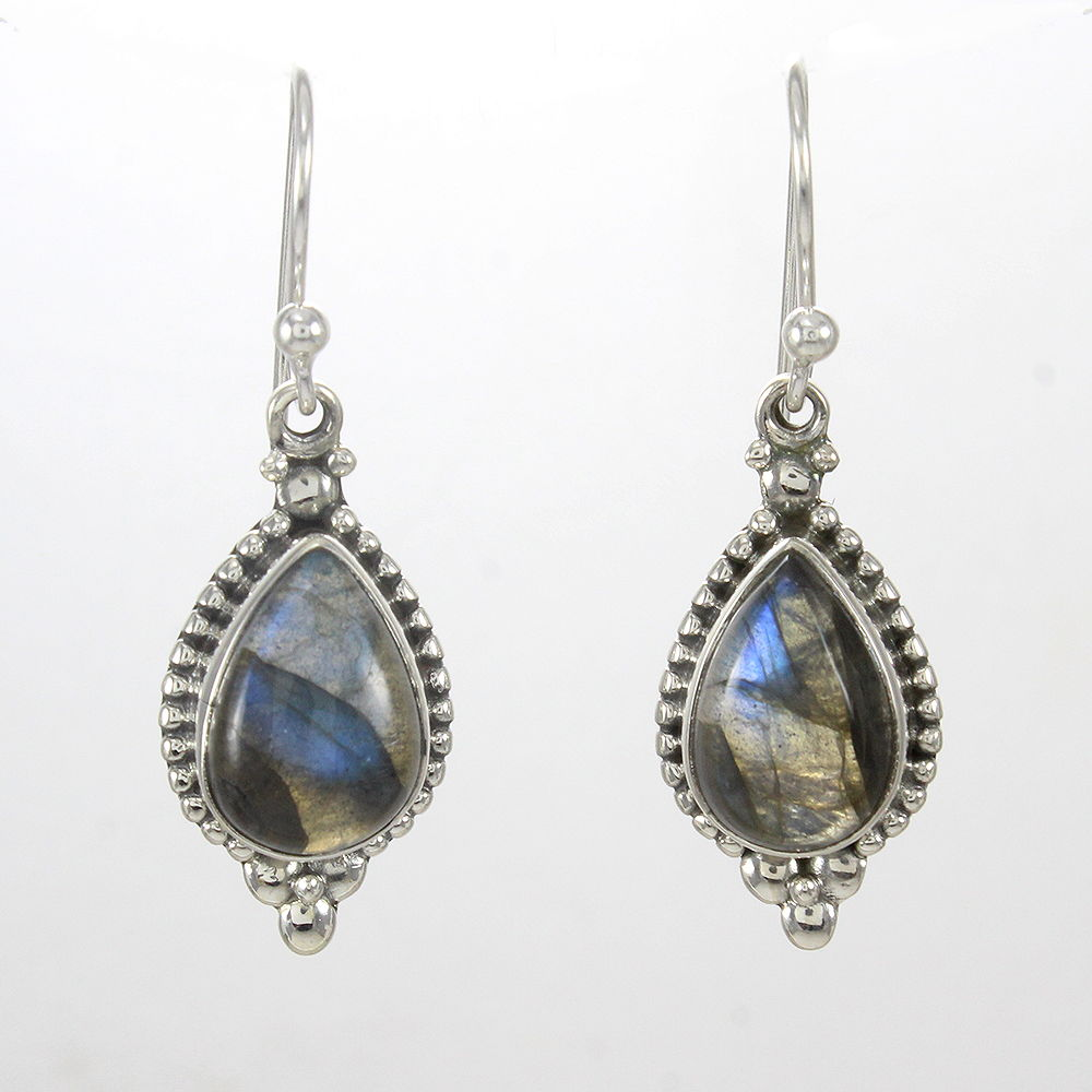 Natural-Labradorite-Handmade-Solid-925-Sterling-Silver-Earrings-Mothers-Day-Gift thumbnail 7