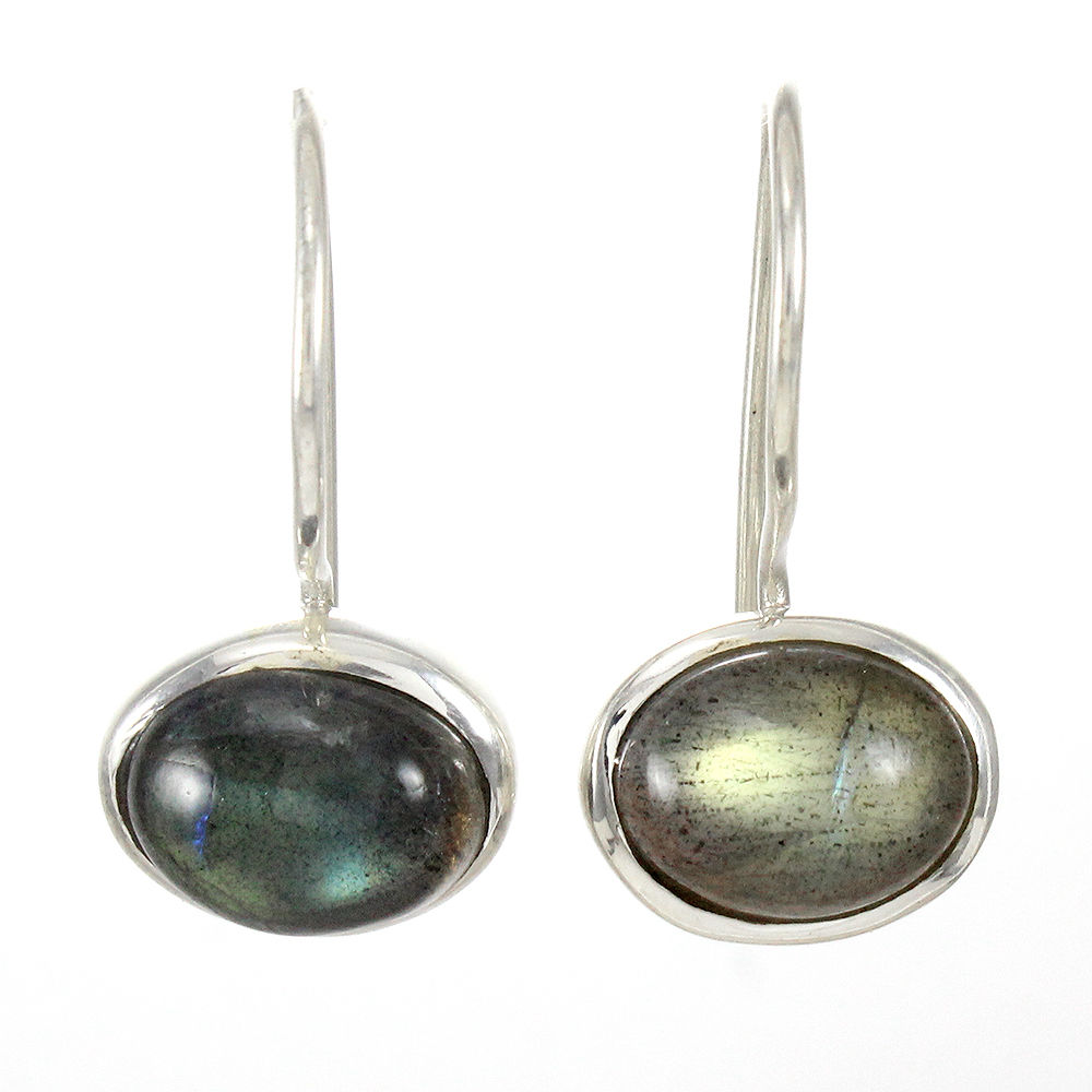 Natural-Labradorite-Handmade-Solid-925-Sterling-Silver-Earrings-Mothers-Day-Gift thumbnail 9