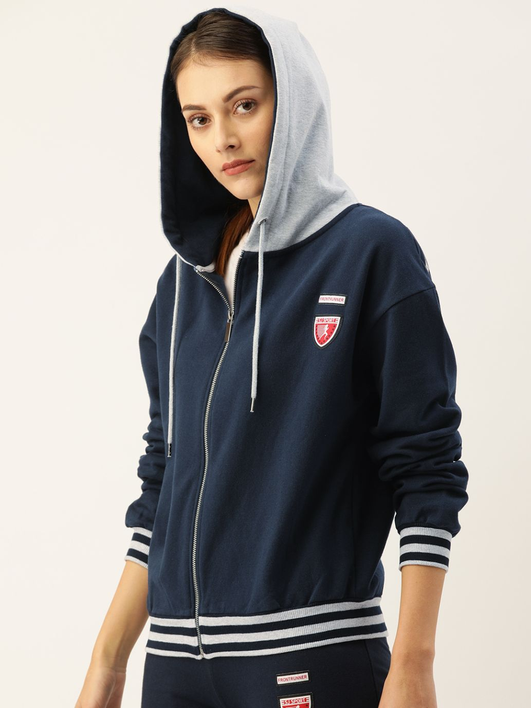 Slumber Jill Navy Hoodie with Badges