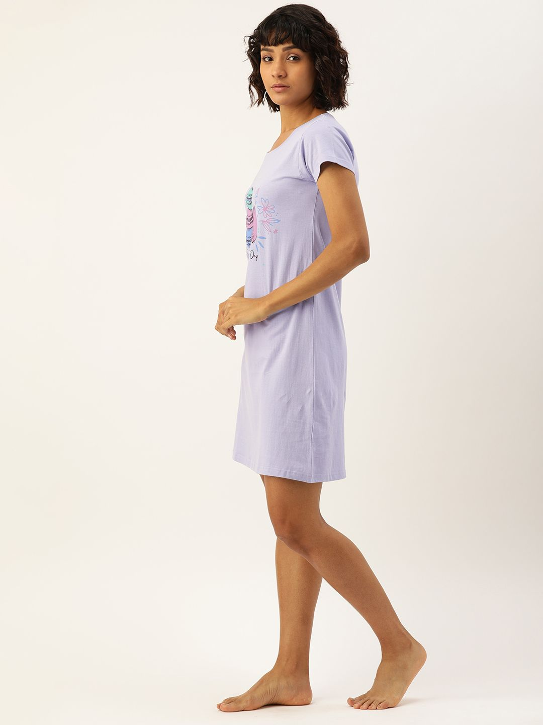Slumber Jill Purple Heather Macaron Sleep Shirt