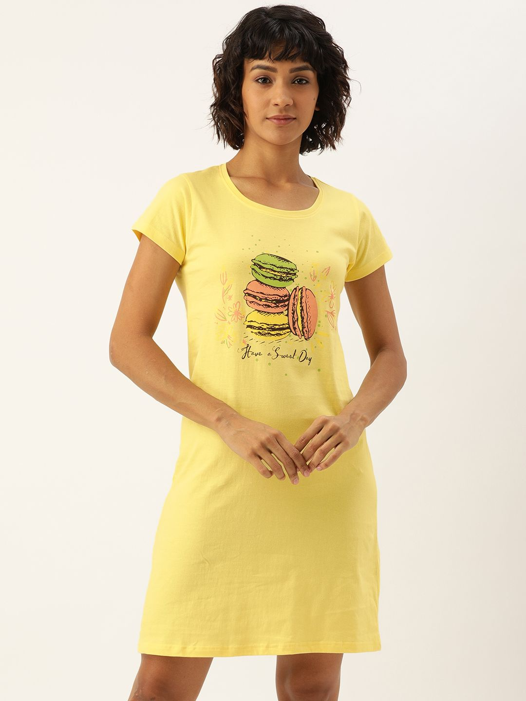 Slumber Jill Popcorn Yellow Macaron Sleep Shirt