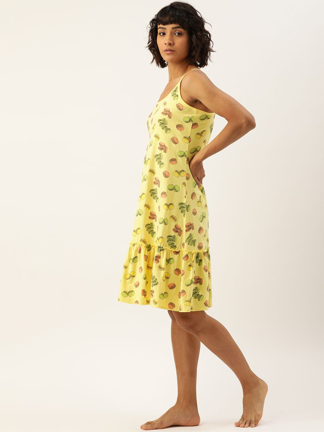 Slumber Jill Popcorn Yellow Macaron Night Dress