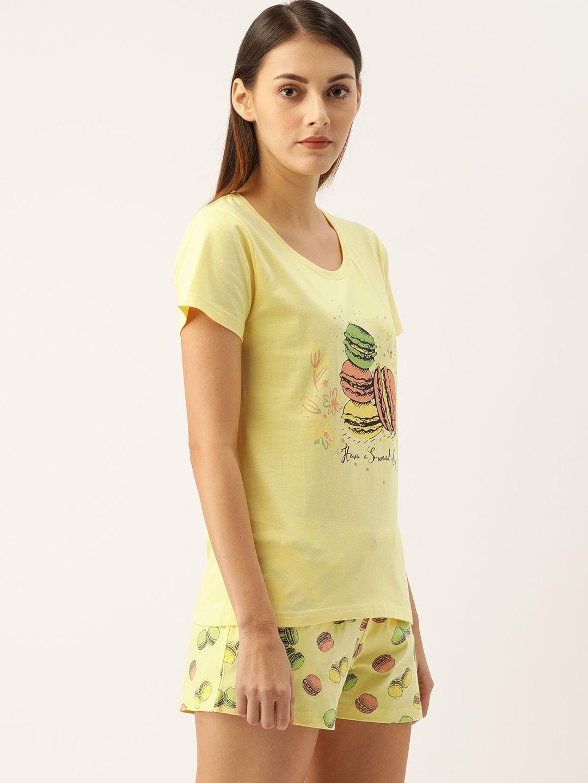Slumber Jill Popcorn Yellow Macaron Short Set