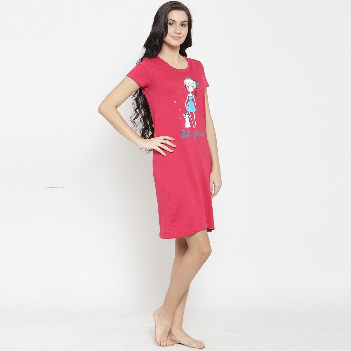 Serise Red Girl & Cat Sleepshirt