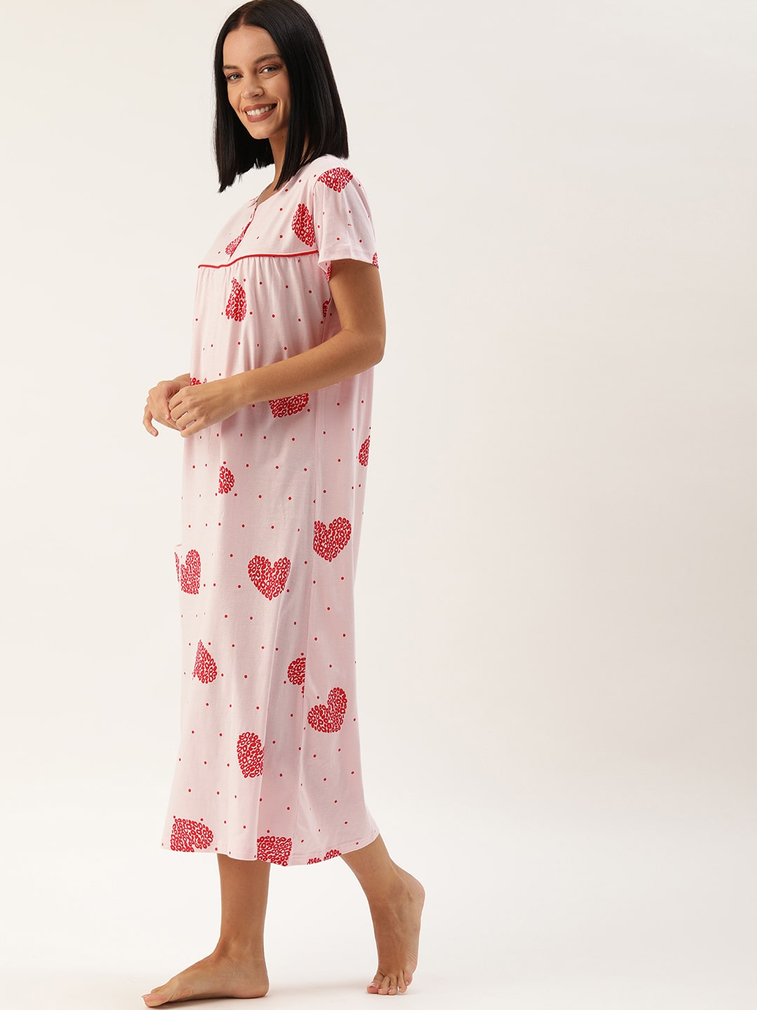 Slumber Jill Pink Heart Night Dress