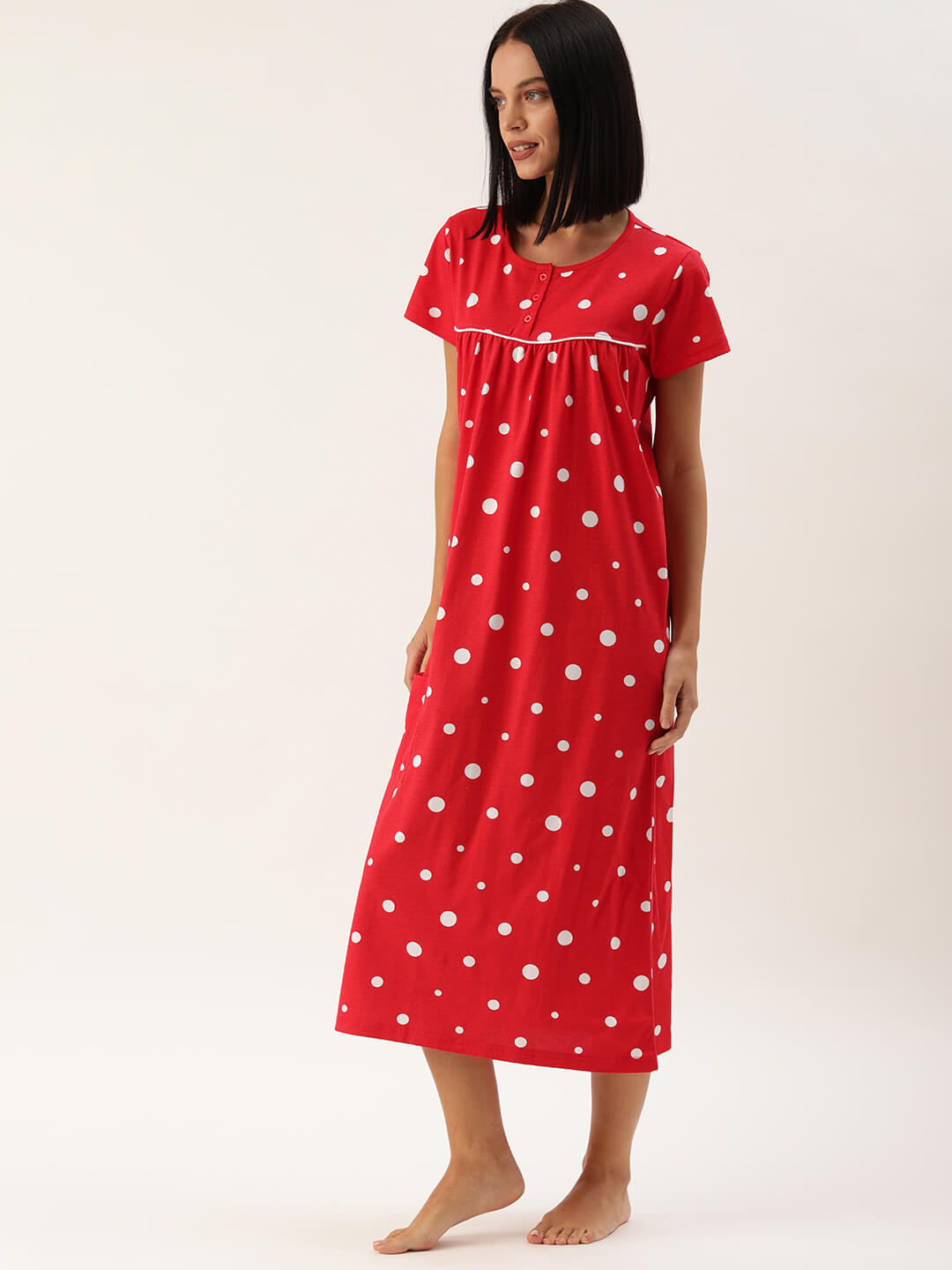 Slumber Jill Red Polka Night Dress