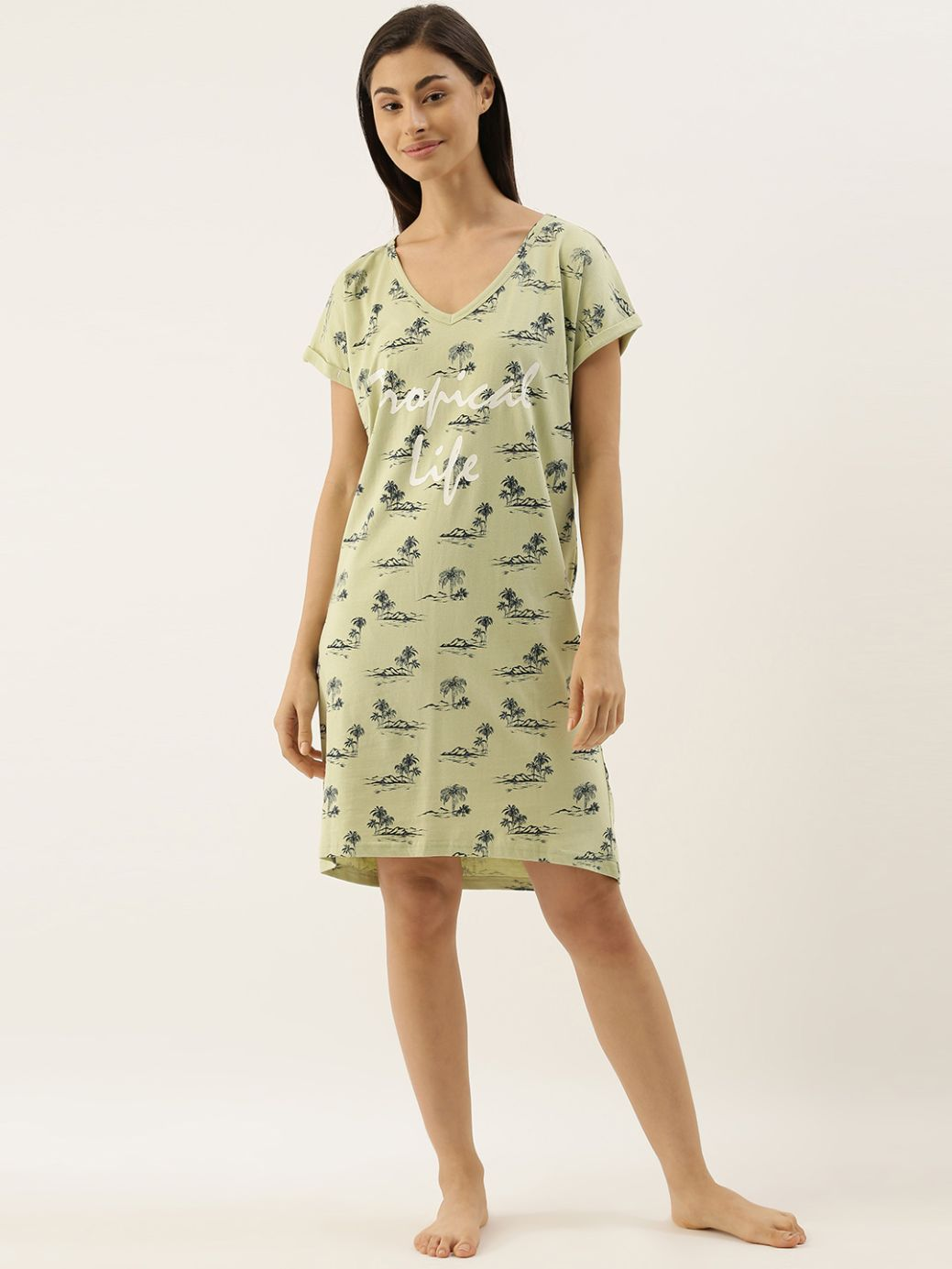 Slumber Jill Tropical Life Loose Fit Sleepshirt
