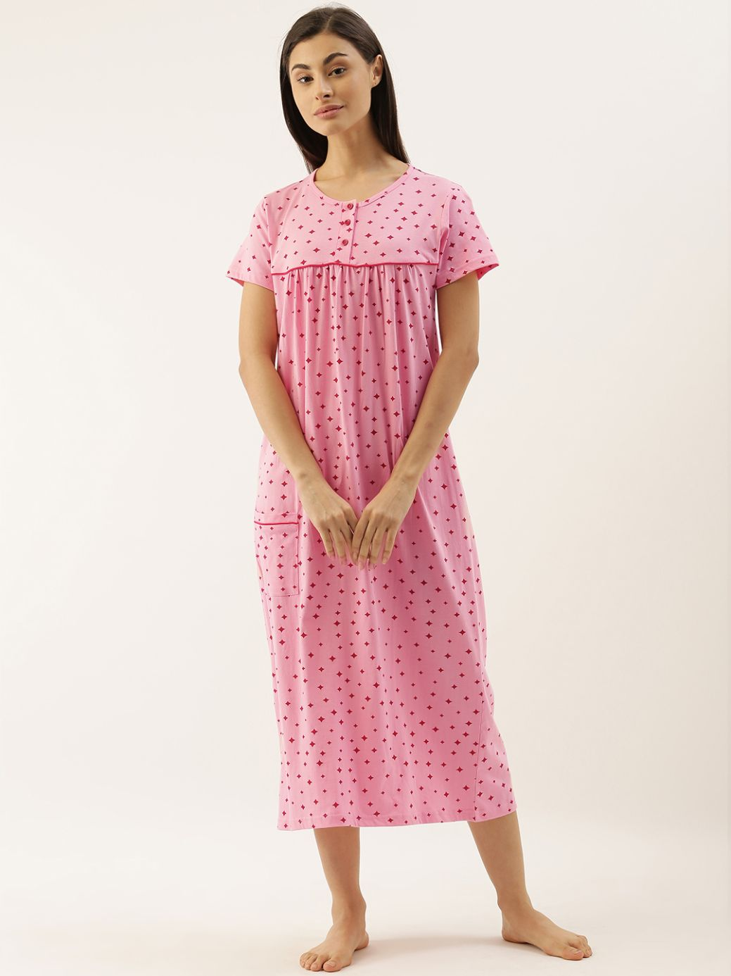 Slumber Jill Pink Stars Night Dress