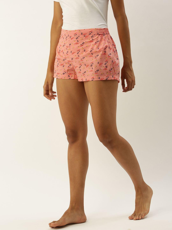 Chloe-Polka Peach Shorts