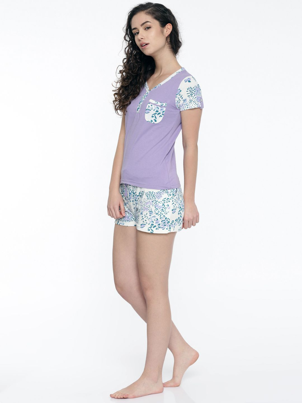 Slumber Jill Paws Jungle AOP Shorts Set